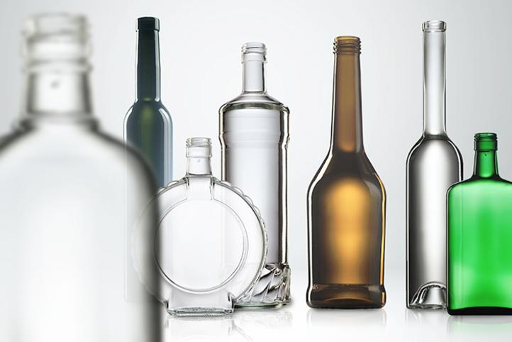 Glass bottles for spirits