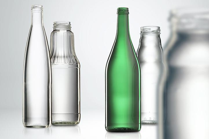 Glass bottles for fruit juice